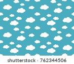 cute clouds pattern. endless... | Shutterstock .eps vector #762344506