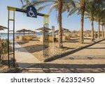 landscape view of a sandy beach ... | Shutterstock . vector #762352450
