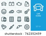 car icons set. collection of...   Shutterstock .eps vector #762352459