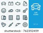 car icons set. set of oil... | Shutterstock .eps vector #762352459