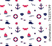 seamless texture from sailing... | Shutterstock .eps vector #762357199