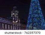 christmas tree in the puerta... | Shutterstock . vector #762357370