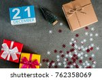 december 21st. image 21 day of... | Shutterstock . vector #762358069