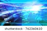 economy concept header image in ... | Shutterstock . vector #762360610