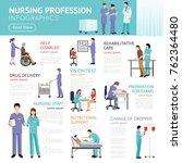 healthcare flat infographics... | Shutterstock . vector #762364480