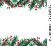 watercolor christmas seamless... | Shutterstock . vector #762365380