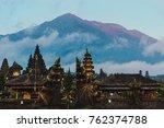 balinese sacred mountain agung... | Shutterstock . vector #762374788