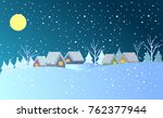 colorful winter town background ... | Shutterstock .eps vector #762377944