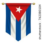 cuba flag or pennant isolated... | Shutterstock .eps vector #762380104