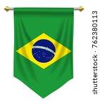 brazil flag or pennant isolated ... | Shutterstock .eps vector #762380113