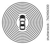 autonomous car top view. self... | Shutterstock .eps vector #762406330