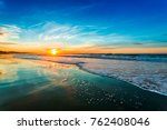 beautiful sunset of portugal... | Shutterstock . vector #762408046