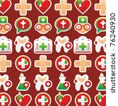 medical background texture | Shutterstock .eps vector #76240930