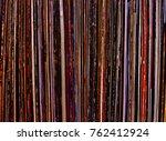 vinyl records  view in front... | Shutterstock . vector #762412924