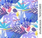 creative hand drawn textures.... | Shutterstock .eps vector #762413683