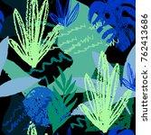 creative hand drawn textures.... | Shutterstock .eps vector #762413686