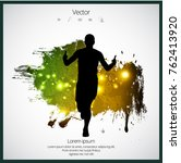 jogger  sport illustration with ... | Shutterstock .eps vector #762413920