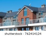 new apartment building house... | Shutterstock . vector #762414124