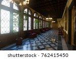 spain  barcelona  palace of... | Shutterstock . vector #762415450