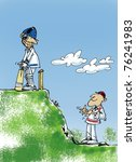 cricket match | Shutterstock .eps vector #76241983