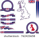 uk banner set. vector graphic... | Shutterstock .eps vector #762423658