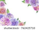 Border With A Purple Dahlia...