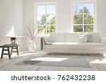 idea of white room with sofa... | Shutterstock . vector #762432238
