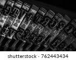 Old Typewriter Detail Close Up...