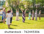 jelgava  latvia   may 21  joga... | Shutterstock . vector #762445306