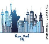 new york city statue of liberty ... | Shutterstock .eps vector #762455713