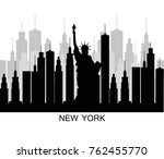 nyc skyline | Shutterstock .eps vector #762455770