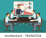 business meeting  presentation... | Shutterstock .eps vector #762462526
