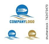 fish restaurant logo | Shutterstock .eps vector #762473470
