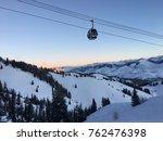Ski Mountain Winter Gondola...
