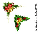 christmas decoration with bow | Shutterstock .eps vector #762482728