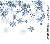 falling snowflakes for... | Shutterstock .eps vector #762485614