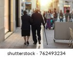 mature couple of lovers walking ... | Shutterstock . vector #762493234