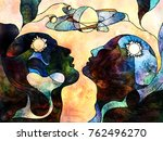 stained glass forever series.... | Shutterstock . vector #762496270