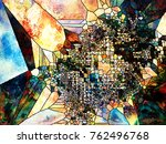stained glass forever series.... | Shutterstock . vector #762496768