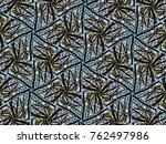 multicolor mosaic kaleidoscope | Shutterstock . vector #762497986