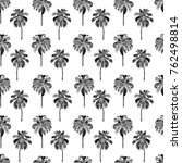 palm pattern. exotic watercolor ... | Shutterstock . vector #762498814