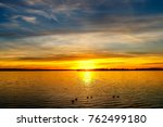 A Beautiful Sunset With Ducks...