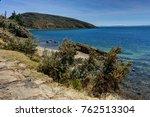 view across la isla del sol... | Shutterstock . vector #762513304