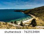 view across la isla del sol... | Shutterstock . vector #762513484