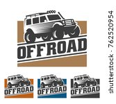 template of off road car logo ... | Shutterstock .eps vector #762520954