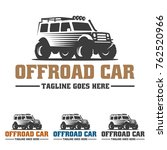 template of off road car logo ... | Shutterstock .eps vector #762520966