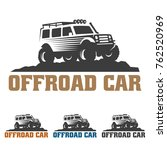 template of off road car logo ... | Shutterstock .eps vector #762520969