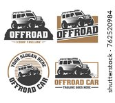 template of off road car logo ... | Shutterstock .eps vector #762520984