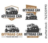 template of off road car logo ... | Shutterstock .eps vector #762520990