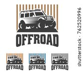 template of off road car logo ... | Shutterstock .eps vector #762520996